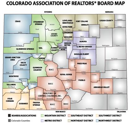 Map of Central Colorado